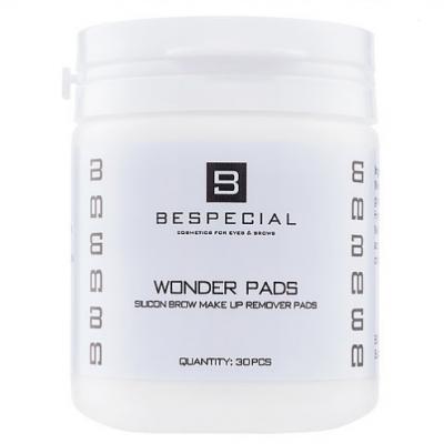 Силиконовые диски Bespecial Wonder Pads для снятия макияжа с бровей 30 штук: фото