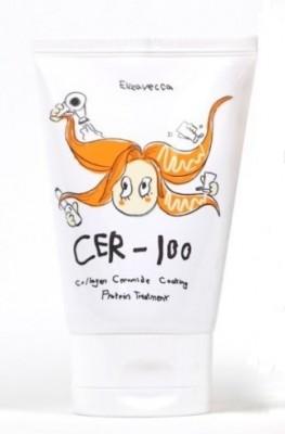 Маска для волос коллагеновая ELIZAVECCA Cer-100 Collagen Ceramide Coating Protein Treatment: фото