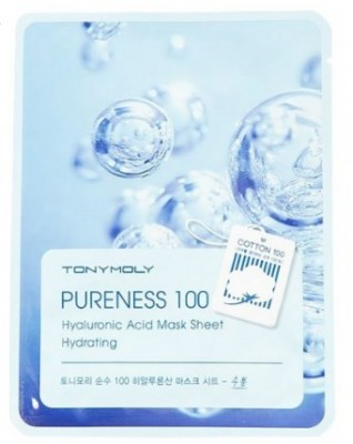 Тканевая маска для лица с гиалуроновой кислотой TONY MOLY Pureness 100 hyaluronic acid mask sheet 21мл: фото