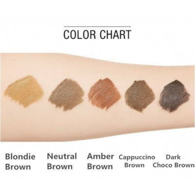 Тушь для бровей MISSHA Color Wear Browcara Amber Brown: фото