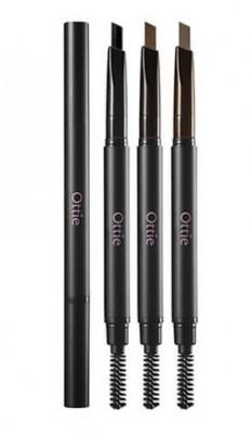 Карандаш для бровей OTTIE Natural Drawing Eye Brow Pencil №01 Black: фото