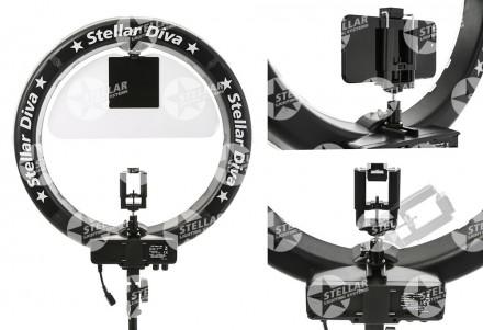 "Кольцевая лампа Stellar Diva X-LED 18"" Ring Light New Complete Kit black: фото"