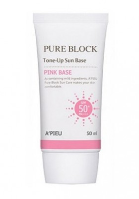 Солнцезащитная база под макияж A'PIEU Pure Block Tone-Up Sun Base SPF50: фото