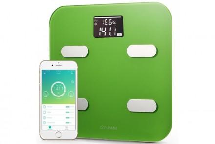 Умные весы YUNMAI color, зеленые: фото