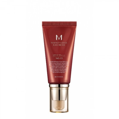 Тональный крем MISSHA M Perfect Cover BB Cream SPF42/PA+++ No.13/Bright Beige 50ml: фото