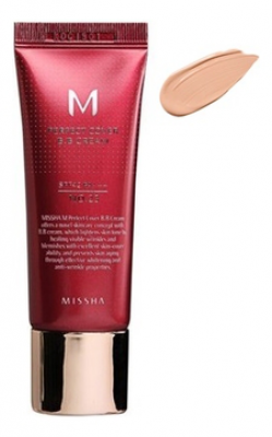 Тональный крем MISSHA M Perfect Cover BB Cream SPF42/PA+++ No.21/Light Beige 50ml: фото