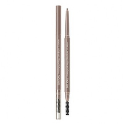 Карандаш для бровей THE SAEM Eco Soul Powerproof Mega Slim Brow 02 Dusty Ash 0,07гр: фото