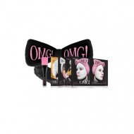 Набор Double Dare OMG! SPA из 4 масок, кисти и черного банта 2: фото