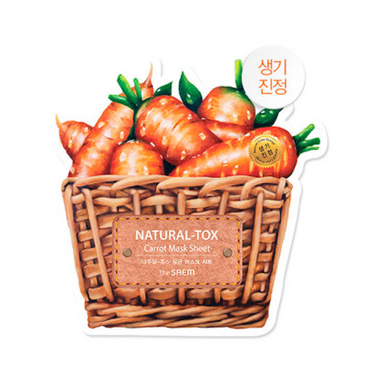 Маска тканевая морковная THE SAEM Natural-tox Carrot Mask Sheet 20гр: фото
