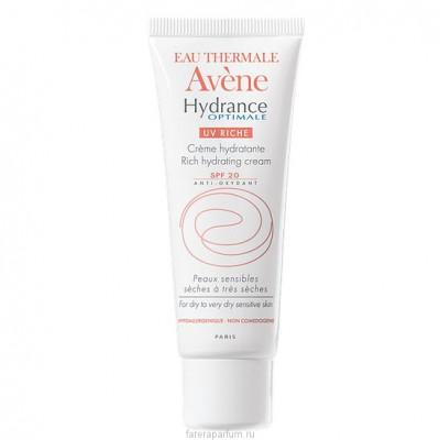 Крем увлажняющий для сухой кожи Avene Hydrance Optimale Riche UV20 40 мл: фото
