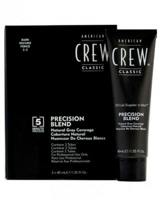 Камуфляж для седых волос American Crew PRECISION BLEND Темный натуральный 2/3, 3*40мл: фото
