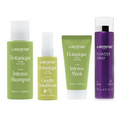 Набор в тубе La Biosthetique Beauty Box Четверг: Intense Shampoo 100 мл, Gentle Conditioner 50 мл, Intense Mask 50 мл, Powder Spray 75 мл: фото