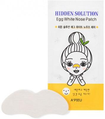 Патчи для носа очищающие с экстрактом яичного белка A'Pieu Hidden Solution Egg White Nose Patch: фото