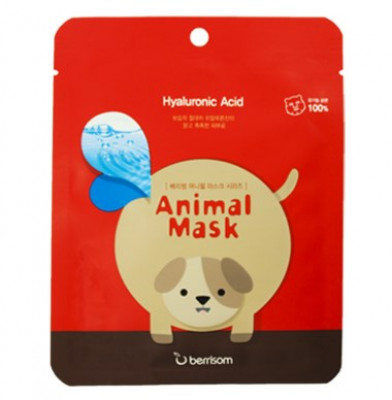 Маска тканевая с гиалуроновой кислотой Berrisom Animal mask series Dog 25мл: фото