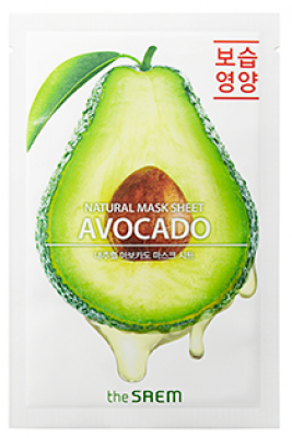 Маска тканевая с экстрактом авокадо THE SAEM Natural Avocado Mask Sheet 21мл: фото