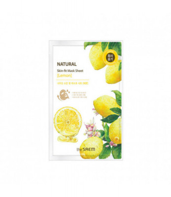 Маска тканевая лимон THE SAEM Natural Skin Fit Mask Sheet [Lemon] 20ml: фото