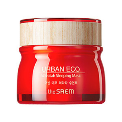 Маска для лица ночная с экстрактом телопеи THE SAEM Urban Eco Waratah Sleeping Mask 80мл: фото