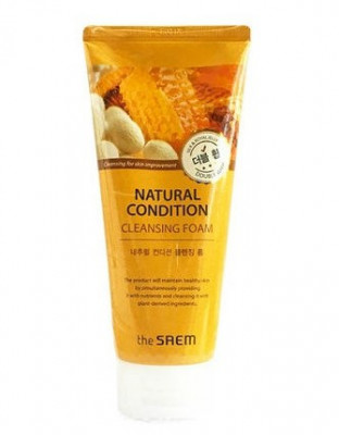 Пенка для умывания очищающая THE SAEM NATURAL CONDITION Cleansing Foam Double Whip 150мл: фото