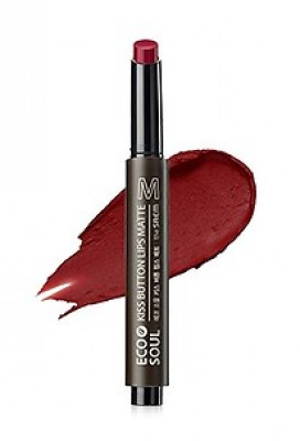 Помада для губ матовая THE SAEM Eco Soul Kiss Button Lips Matte 08 Red Pepper 2г: фото