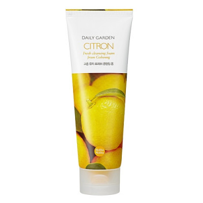 Пенка для лица с экстрактом цитруса Holika Holika Daily Garden Goheung Citron Fresh Cleansing Foam 120 мл: фото