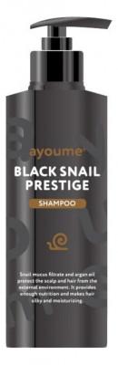 Шампунь для волос с муцином улитки Ayoume black snail prestige shampoo 100мл: фото