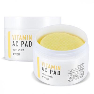 Пады для лица отшелушивающие A'PIEU Vitamin AC Pad 80гр: фото