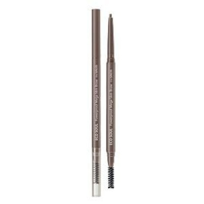 Карандаш для бровей THE SAEM Eco Soul Powerproof Mega Slim Brow 03 Urban Brown 0,07гр: фото
