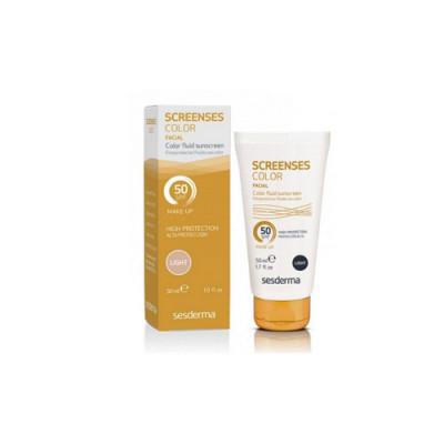 Солнцезащитное тональное средство Sesderma SCREENSES Color Fluid Sunscreen SPF50 Light Светлый тон 30мл: фото