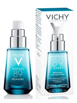 Уход вокруг глаз восстанавливающий и укрепляющий Vichy Mineral 89 15мл: фото
