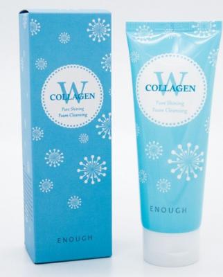 Пенка для умывания ENOUGH W Collagen Pure Shining Foam Cleansing 100мл: фото