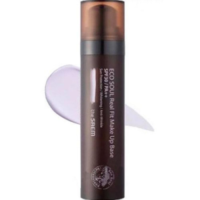 База под макияж THE SAEM Eco Soul Real Fit Makeup Base 02 Larvender 40мл: фото