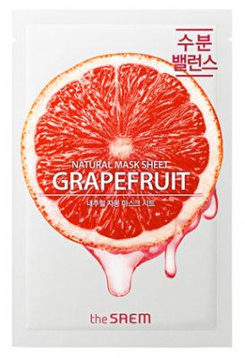 Маска тканевая с экстрактом грейпфрута THE SAEM Natural Grapefruit Mask Sheet 21мл: фото