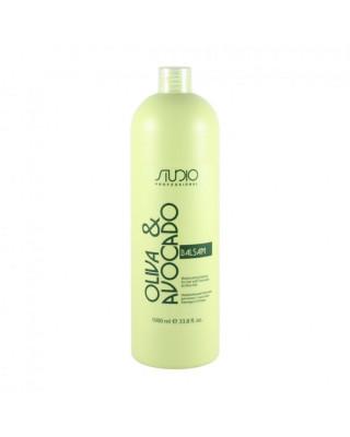 Бальзам увлажняющий для волос с маслами авокадо и оливы Kapous Professional 1000 мл: фото