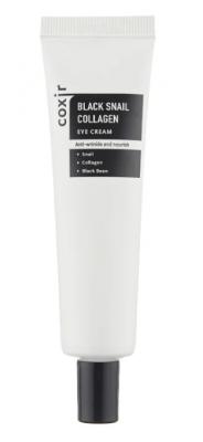 Крем для век с муцином улитки и коллагеном COXIR Black Snail Collagen Eye Cream 30мл: фото