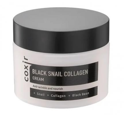 Крем антивозрастной с муцином улитки и коллагеном COXIR Black Snail Collagen Cream 50мл: фото