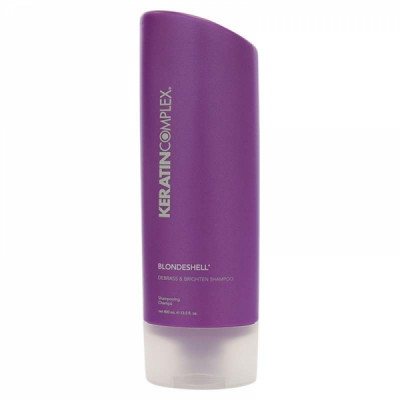 Шампунь корректирующий для осветленных и седых волос Keratin Complex Blondeshell Debrass & Brighten Shampoo 400мл: фото