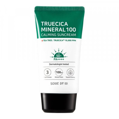 Крем солнцезащитный SOME BY MI TRUECICA MINERAL 100 Calming Suncream SPF50 PA++++ 50мл: фото