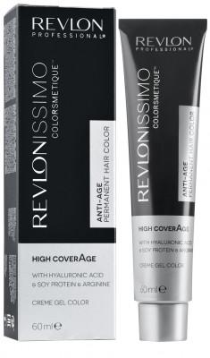 Краска для седых волос Revlon Professional Revlonissimo High Coverage 7.35 янтарный Блондин 60мл: фото