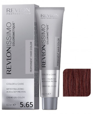 Краска перманентная Revlon Professional Revlonissimo Colorsmetique 5.65 светло-коричневый красно-махагоновый 60мл: фото