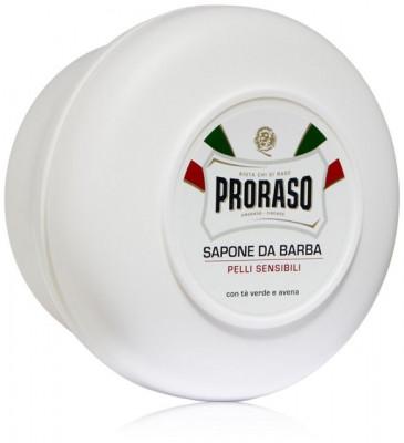 Мыло для бритья для чувствительной кожи PRORASO Green Tea and Oats 150 мл: фото