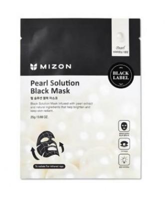 Тканевая маска с жемчугом MIZON Pearl Solution Black Mask: фото