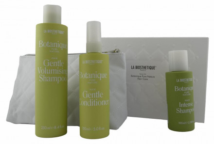 Набор для волос La Biosthetique Beauty Set Botanique Hair Care: Gentle Volumising Shampoo 250мл + Gentle Conditioner 150мл + Intense Shampoo 100мл + косметичка: фото