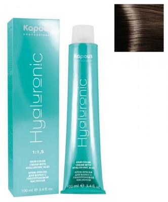 Крем-краска Kapous Professional Hyaluronic acid 6.13 Темный блондин бежевый 100мл: фото