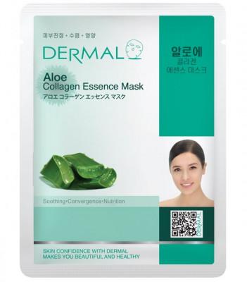 Тканевая маска алоэ и коллаген Dermal Aloe Collagen Essence Mask 23 мл: фото