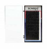 Ресницы Bombini Черные, 20 линий, изгиб С – MIX 9-12 0.12: фото