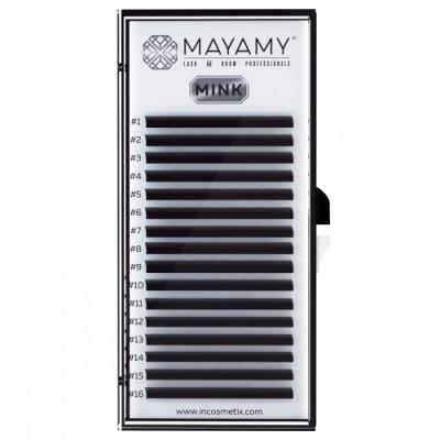 Ресницы MAYAMY MINK 16 линий С 0,12 13 мм: фото