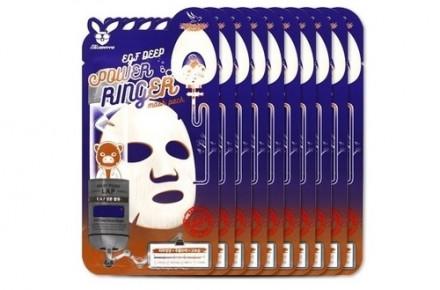НАБОР Тканевых масок с Эпидермальным фактором Elizavecca EGF DEEP POWER Ringer mask pack 23мл*10шт: фото