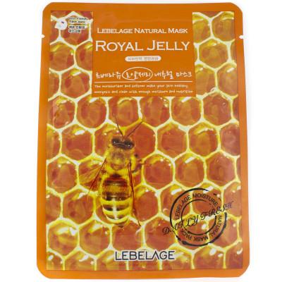 Тканевая маска для лица с маточным молочком Lebelage Natural Mask Royal Jelly 23 г: фото