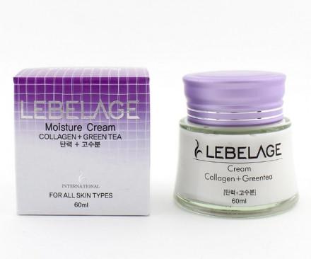 Крем для лица Коллаген+Зеленый чай Lebelage Collagen+Green Tea Moisture Cream 60 мл: фото
