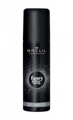 Фантазийный спрей-блеск Brelil Colorianne Fancy Glitter Spray серебряный 75мл: фото